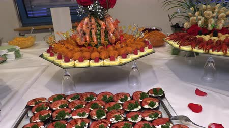 kerevit : holiday table with seafood fish crayfish
