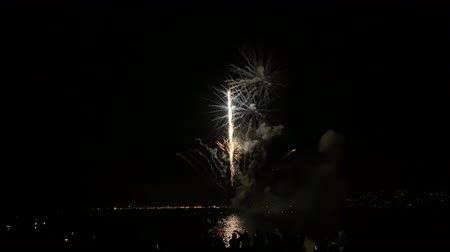 festivais : fireworks at night at the sea