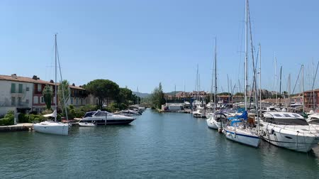 Yachts in the port of Grimaud