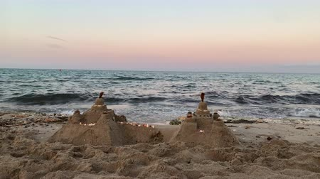 Sand castles by the sea