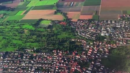 top view of germany fields Wideo