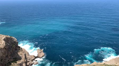 Майорка : in Mallorca a blue bay with a rocky coast