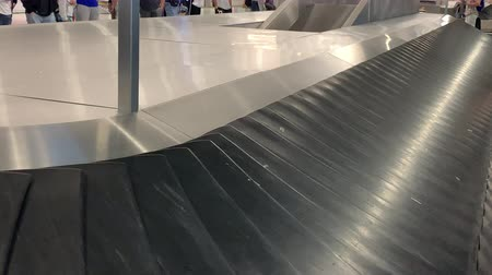 baggage conveyor belt at the airport