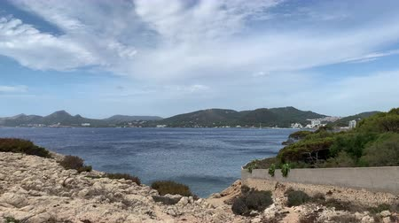 Майорка : Rocky coast on the island of spain Mallorca