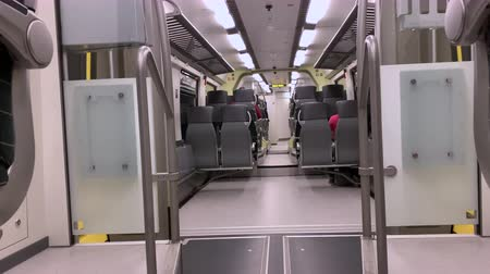 ekspres : the car inside the train at speed