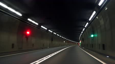 speed tunnel : The longest tunnel in Europe, Switzerland, Gotthard Stock Footage
