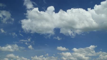 puffy clouds : Puffy clouds Stock Footage