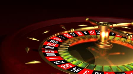 bajnok : Roulette Wheel rotation Stock mozgókép