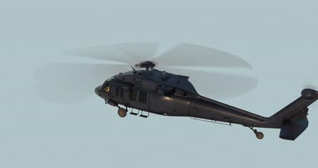 нападение : UH-60 Black Hawk realistic 3d animation. Realistic reflections, shadows and motion. With luma matte