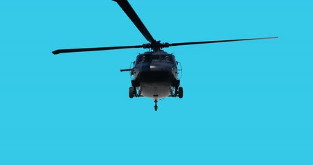 操作 : UH-60 Black Hawk realistic 3d animation. Realistic reflections, shadows and motion. With luma matte
