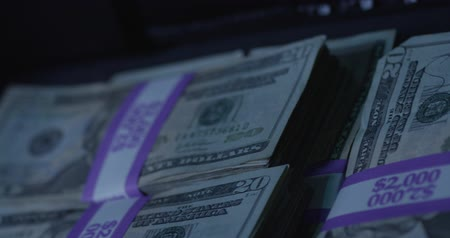 mennyiség : Dollar Bills. Cash Money. Macro, Close Up, Slow Motion