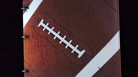 blank : Tell your story with this Football album with green key to add your video or pictures,album opens and closes Stock Footage