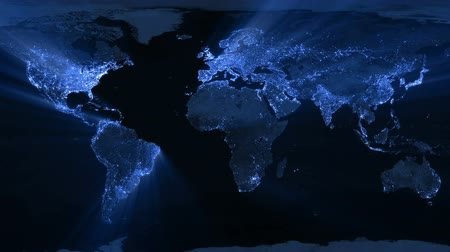 技术 : Illuminated world map animation. Animation is looped for continuous playback. 影像素材