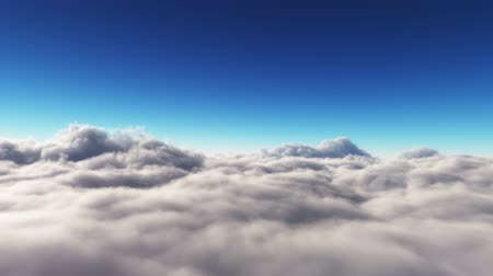 religião : Cloud fly over, HD journey above and through clouds