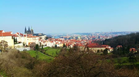 Прага : Panoramic view of Prague and Prague Castle