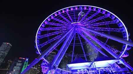 Ferris Wheel in Hong Kong at night. 2014