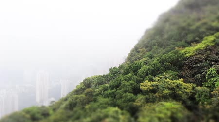mountain scenery in hong kong Stock Footage