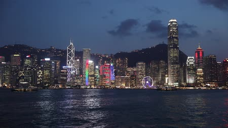 manzaraları : Hong Kong, China,night view