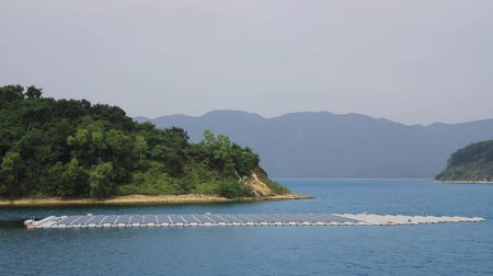 Solar panels on water at  Plover Cove Reservoir