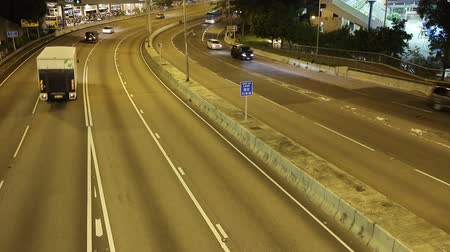 Straße in Hong Kong in der Nacht. Videos