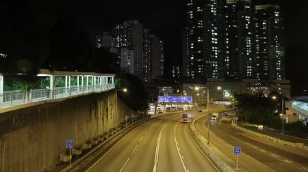 street in Hong Kong at night.
