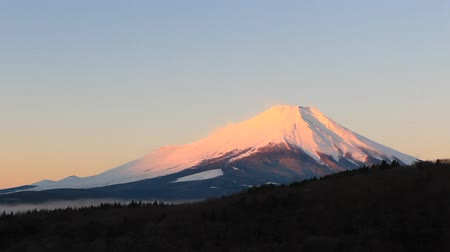 japan : dawn mount fuji japan Stock Footage