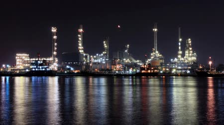 time lapse oil refinery industry