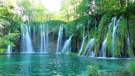 göl : The landscape of Plitvice Lakes in Croatia