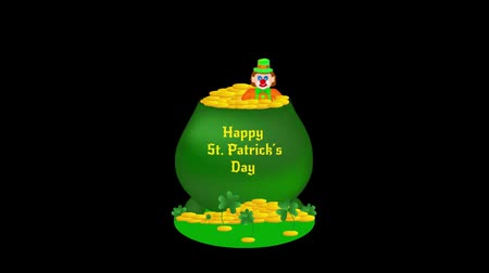 şanslı : Footage with alpha in theme of St. Patricks Day