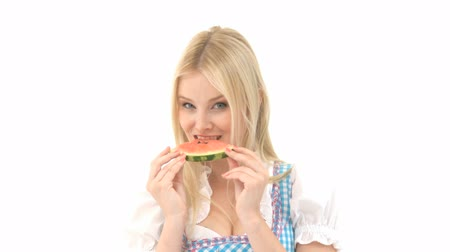 morder : Woman in Dirndl eats Watermelon