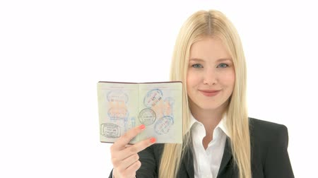 pas : Business Woman with Passport Dostupné videozáznamy