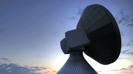 münchen : Satellite Earth Station at sunrise