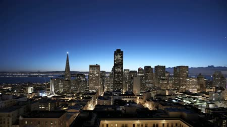 şafak : San Francisco sunrise Timelapse Stok Video