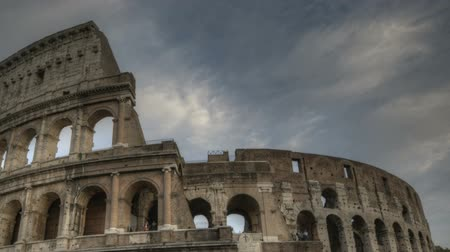 rzym : Timelapse of Colosseum in rome at sunset Wideo