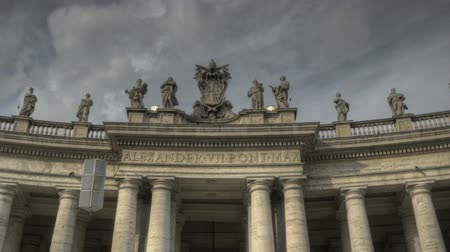 watykan : Timelapse of St. Peters Square at the Vatican fisheye Wideo