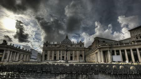 watykan : Timelapse of St. Peters Square at the Vatican