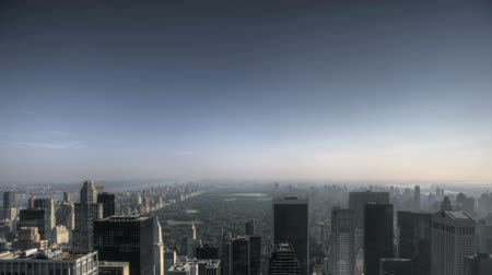 lapse : HDR Timelapse of some Clouds over New York City Skyline and Central Park