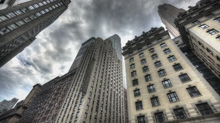 manzaraları : HDR Timelapse of Central park and New York City Uptown with passing clouds Stok Video