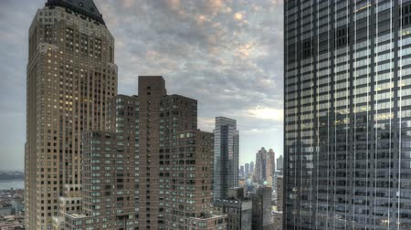 şafak : HDR Timelapse Urban Canyon New York City Stok Video