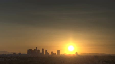 manzaraları : Sunrise Timelapse of Downtown Los Angeles skyline