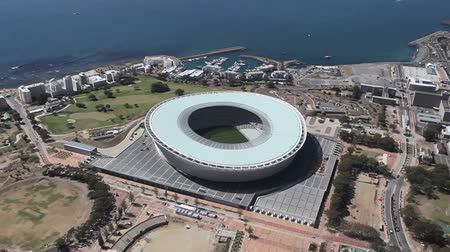 арена : Aerial footage of Green Point Stadium Cape Town in South Africa