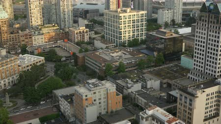 stoupat : Aerial view from Vancouver, Canada before sunset with afternoon sunlight