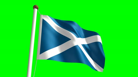birlik : 3D Scotland flag video (seamless & green screen)