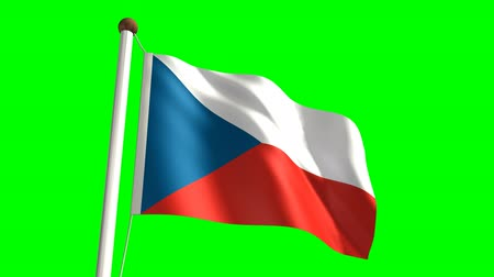 birlik : 3D Czech Republic flag video (seamless & green screen)