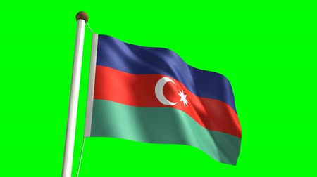 birlik : Azerbaijan flag video (seamless & green screen)