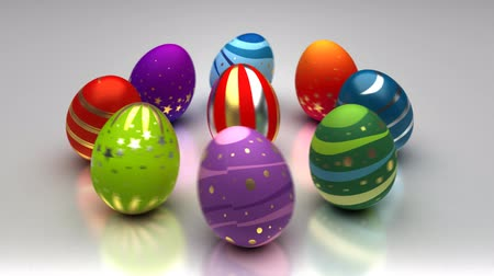 ovo : Easter Eggs Turning Around Stock Footage