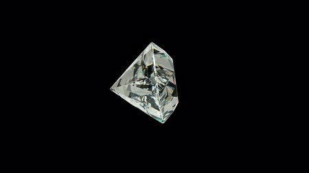 rombusz : Princess cut diamond with alpha channel (seamless) Stock mozgókép