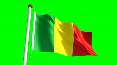 nemzeti : Mali flag (seamless & green screen)