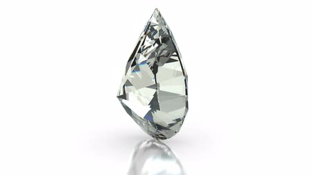tesouro : Pear cut diamond on white (seamless)