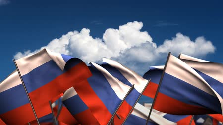 birlik : Waving Russian Flags (seamless & alpha channel)